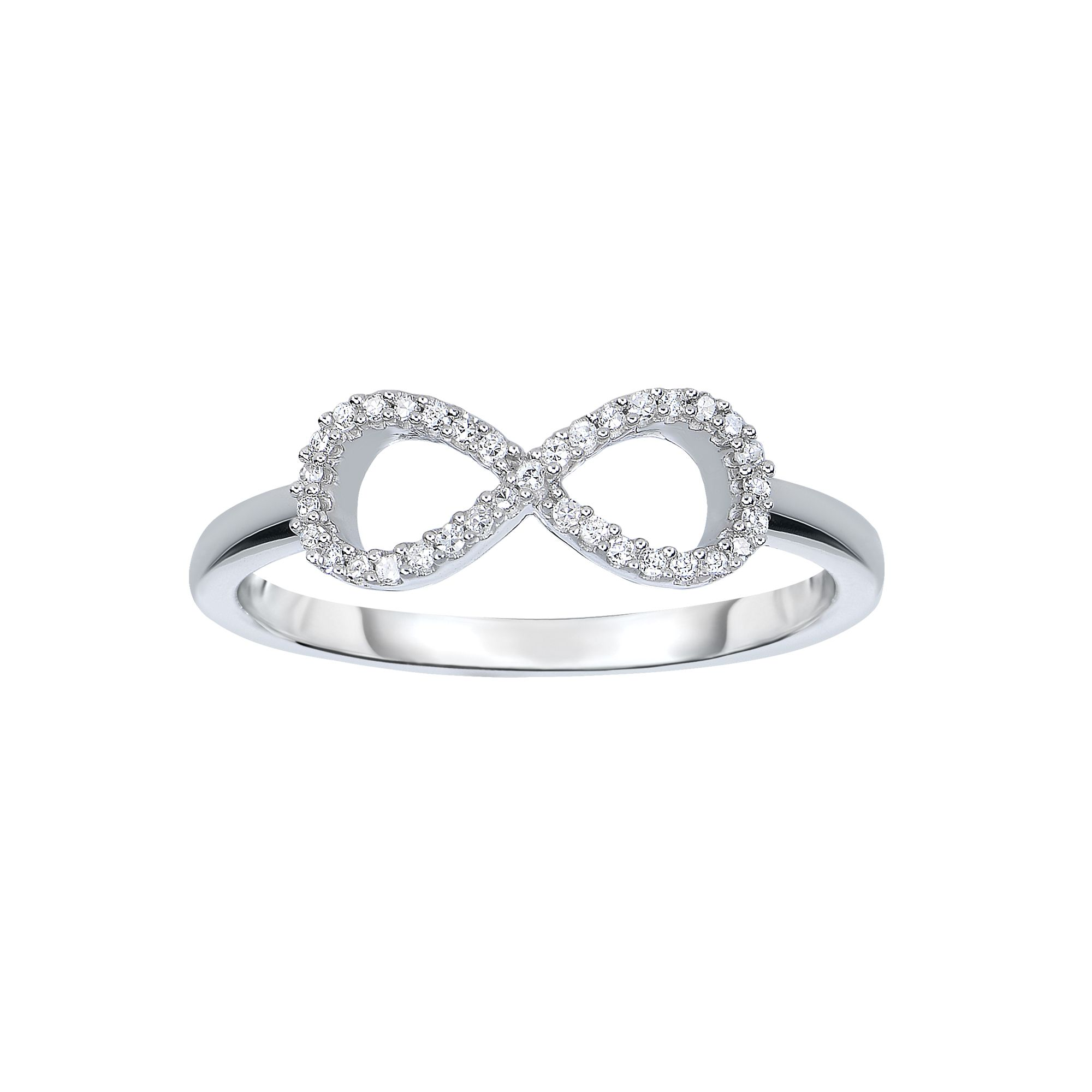 14 Karat White Gold Diamond Infinity Ring