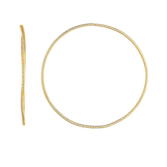 14 Karat Yellow Gold Endless Hoop Earrings