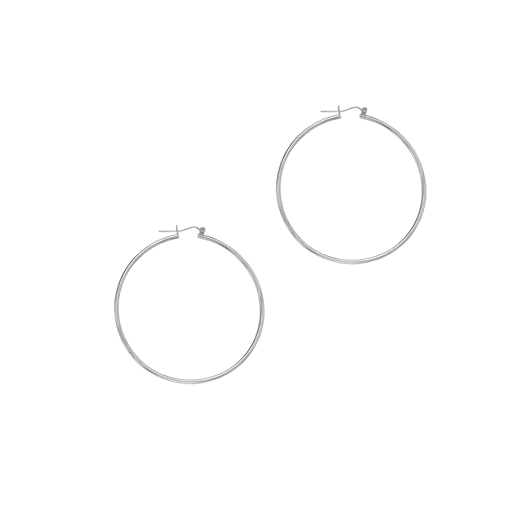 14 Karat Gold 1.5 mm Polished Hoop Earrings