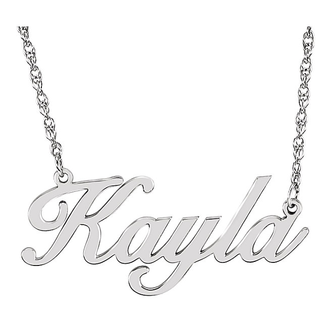 14 Karat Gold Cursive Personalized Name Necklace
