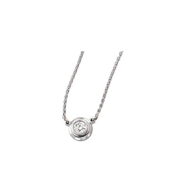14K White Gold .25 CTW Diamond 18″ Necklace