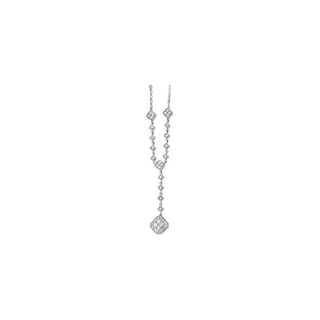 14K White 1/3 CTW Diamond Necklace
