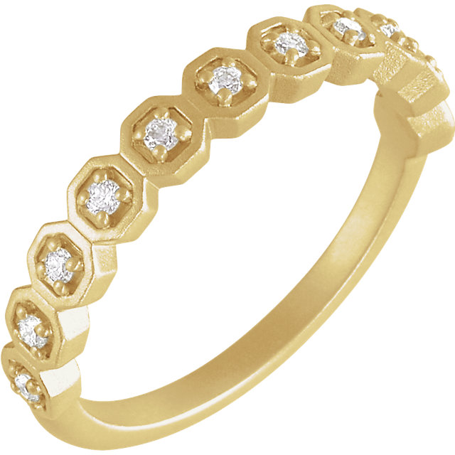14 Karat Yellow Gold 1/6 CTW Diamond Anniversary Band