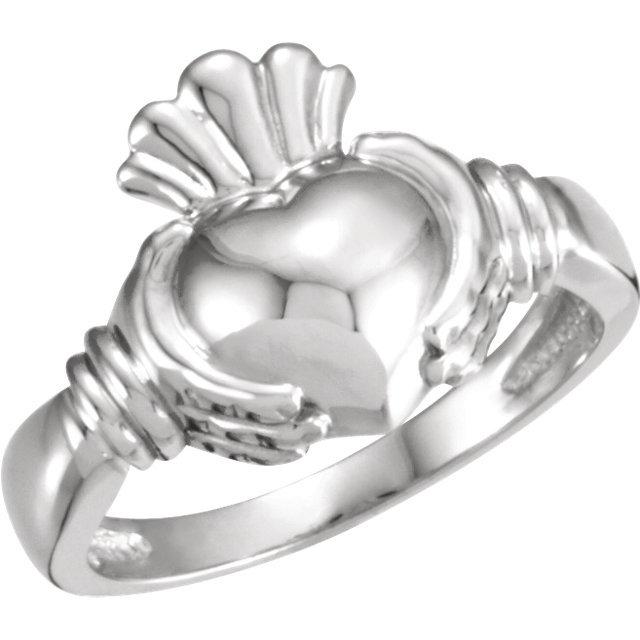 14 Karat Gold Traditional Irish Claddagh Ring